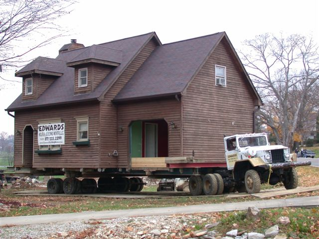 Stephen Edwards Building Movers  Projects - 2 story garage house